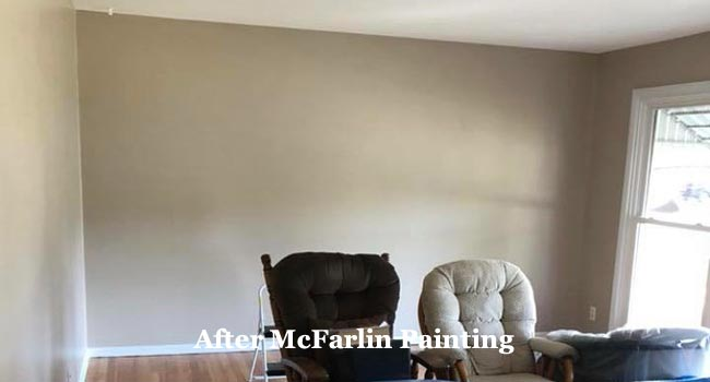 room after painting interior